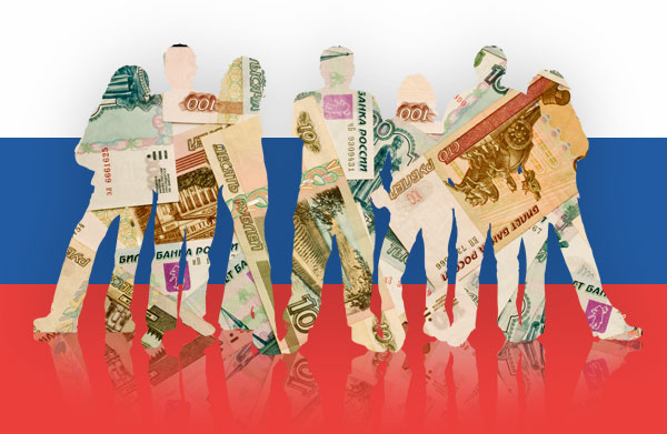 В России число выданных кредитов в расчете на одного человека стремительно растет